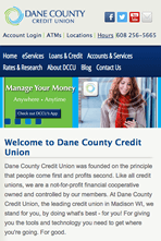 Dane County Credit Union - Mobile Website