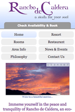 Rancho de Caldera - Mobile Website