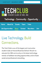 Harvard Business School, Tech Club - Mobile Website
