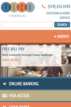 TLCU Financial - Mobile Website
